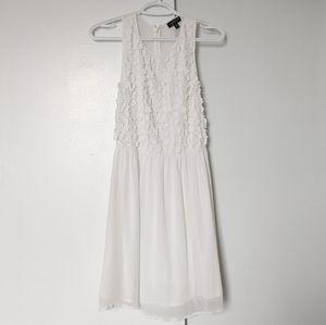 Topshop   floral chiffon dress